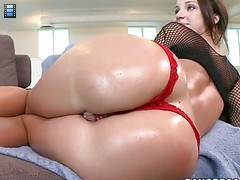 Jada Stevens - this hot nice big butt babe get pounded hardcore and stroke some cock. [4 movies]